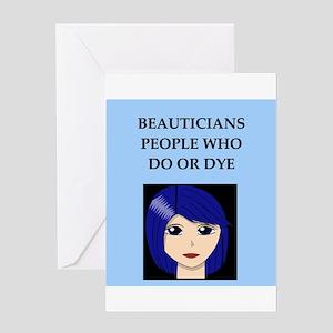 funny beautician beauty joke Greeting Card
