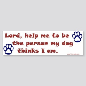 Dog Prayer Bumper Sticker