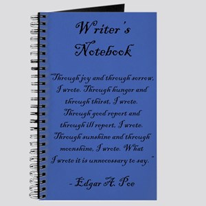 """""""Edgar A. Poe"""" - Writer's Notebook"""