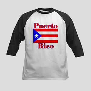 Puerto Flag Rico Kids Baseball Jersey