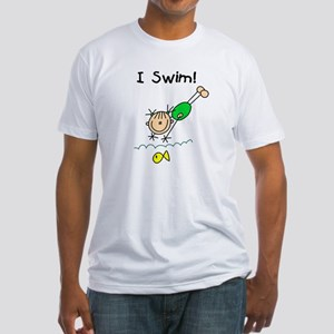 Girl I Swim Fitted T-Shirt