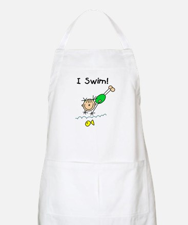 Girl I Swim BBQ Apron