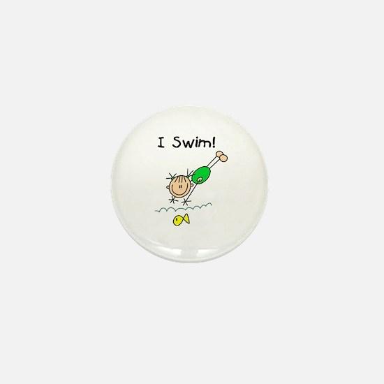 Girl I Swim Mini Button