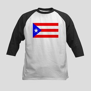 Puerto Rico Flag Kids Baseball Jersey