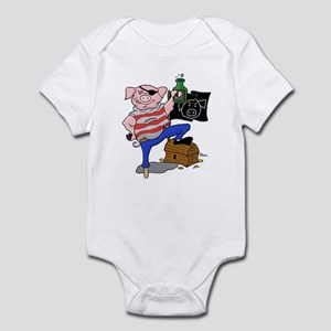 Pig Pirate Captain Infant Bodysuit