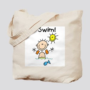 Boy I Swim Tote Bag