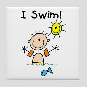 Boy I Swim Tile Coaster
