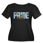 Drums Pride Women's Plus Size Scoop Neck Dark T-Sh