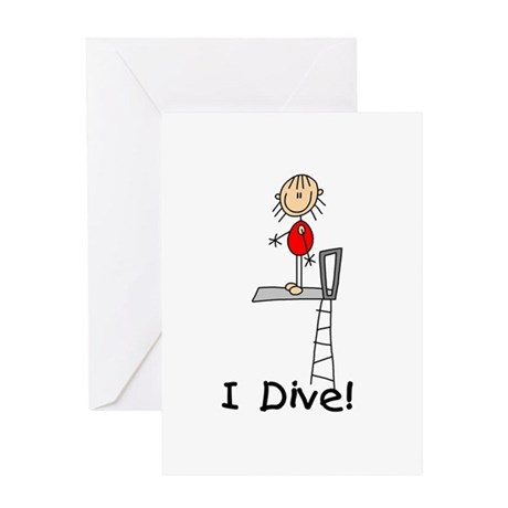 Girl I Dive Greeting Card