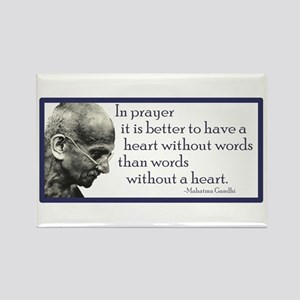 Gandhi - ...it is better to h Rectangle Magnet