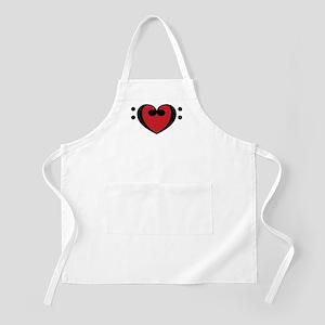 Base Clef Heart BBQ Apron