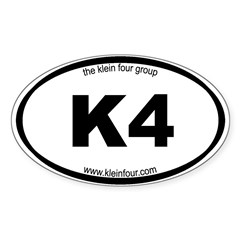 K4 Oval Decal