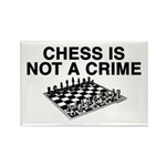Chess is Not a Crime Rectangle Magnet