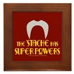 'Stache super powers. Framed Tile