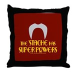 'Stache super powers. Throw Pillow