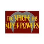 'Stache super powers. Rectangle Magnet (100 pack)