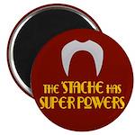 'Stache super powers. Magnet