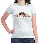 'Stache super powers. Jr. Ringer T-Shirt