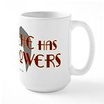 'Stache super powers. Large Mug