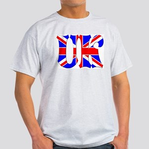 UK Flag Ash Grey T-Shirt