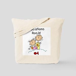 Vacations Rock Tote Bag