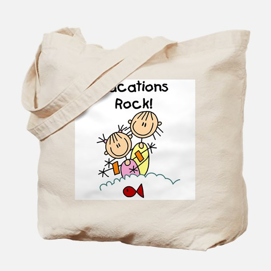 Vacations Rock Tote Bag