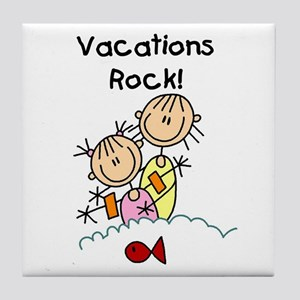 Vacations Rock Tile Coaster