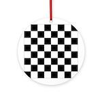 Checkered Ornament (Round)