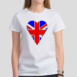 UK Heart-Shaped Flag Women's T-Shirt