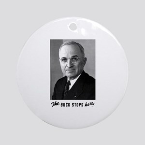 The Buck Stops Here! Ornament (Round)