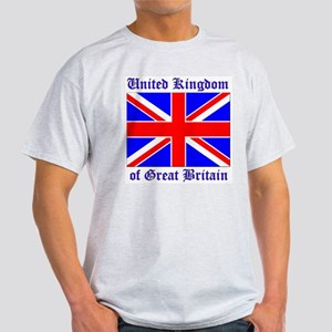 UK Flag of Great Britain Ash Grey T-Shirt