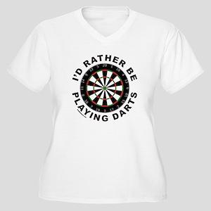 DARTBOARD/DARTS Women's Plus Size V-Neck T-Shirt