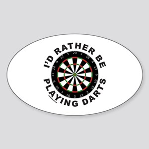 DARTBOARD/DARTS Oval Sticker