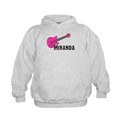 Guitar - Miranda - Pink Hoodie