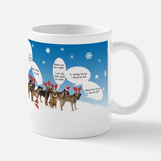 Border Terriers as Reindeer Mug