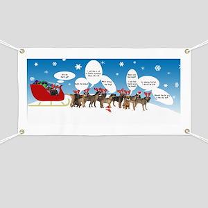 Border Terriers as Reindeer Banner