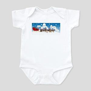 Border Terriers as Reindeer Infant Bodysuit