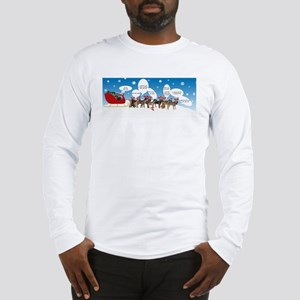 Border Terriers as Reindeer Long Sleeve T-Shirt