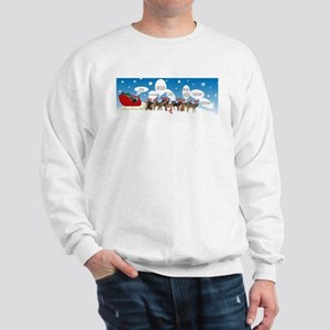 Border Terriers as Reindeer Sweatshirt