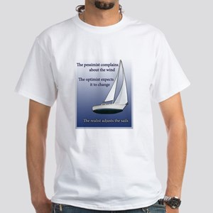 Adjust the sails White T-Shirt