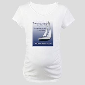Adjust the sails Maternity T-Shirt