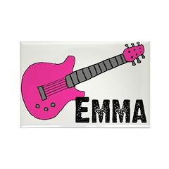 Guitar - Emma - Pink Rectangle Magnet