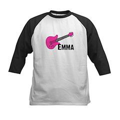 Guitar - Emma - Pink Kids Baseball Jersey