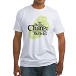 Paisley Green - Be the change Fitted T-Shirt