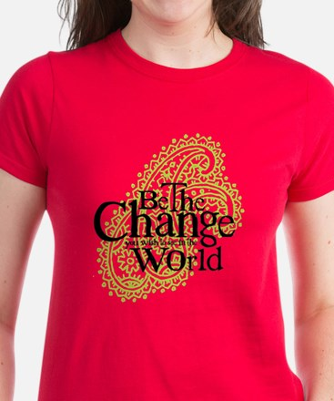 Paisley Green - Be the change Women's Dark T-Shirt