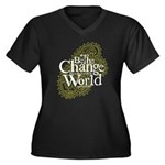 Paisley Green - Be the change Women's Plus Size V-