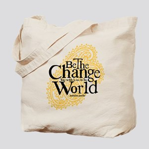 Paisley Peach - Be the change Tote Bag