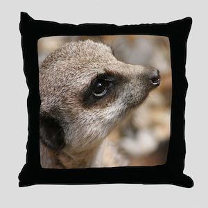Meercat Throw Pillow