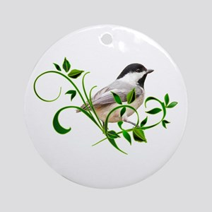 Chickadee Ornament (Round)