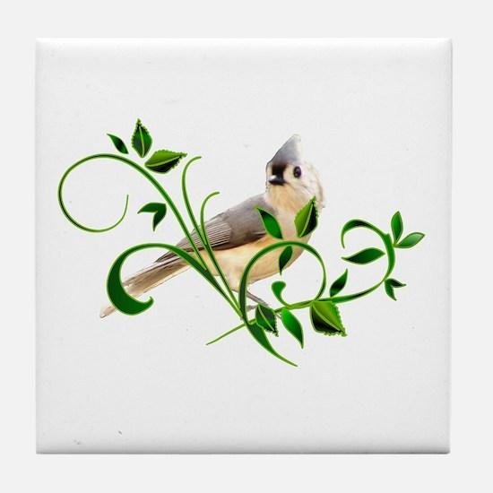 Titmouse Tile Coaster